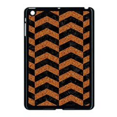 Chevron2 Black Marble & Rusted Metal Apple Ipad Mini Case (black) by trendistuff
