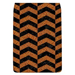 Chevron2 Black Marble & Rusted Metal Flap Covers (l)  by trendistuff