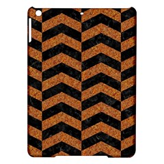 Chevron2 Black Marble & Rusted Metal Ipad Air Hardshell Cases by trendistuff