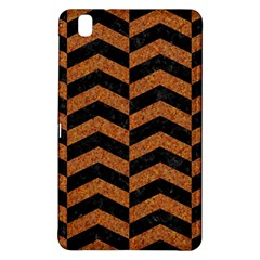 Chevron2 Black Marble & Rusted Metal Samsung Galaxy Tab Pro 8 4 Hardshell Case by trendistuff