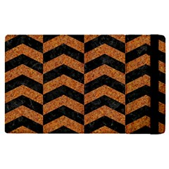 Chevron2 Black Marble & Rusted Metal Apple Ipad Pro 12 9   Flip Case by trendistuff