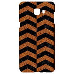 Chevron2 Black Marble & Rusted Metal Samsung C9 Pro Hardshell Case  by trendistuff