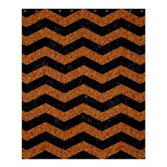 Chevron3 Black Marble & Rusted Metal Shower Curtain 60  X 72  (medium)  by trendistuff