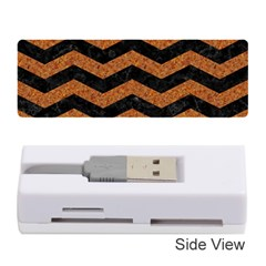Chevron3 Black Marble & Rusted Metal Memory Card Reader (stick)  by trendistuff