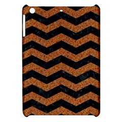 Chevron3 Black Marble & Rusted Metal Apple Ipad Mini Hardshell Case by trendistuff