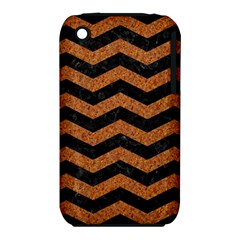 Chevron3 Black Marble & Rusted Metal Iphone 3s/3gs by trendistuff