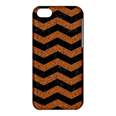Chevron3 Black Marble & Rusted Metal Apple Iphone 5c Hardshell Case by trendistuff