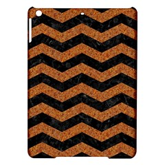 Chevron3 Black Marble & Rusted Metal Ipad Air Hardshell Cases by trendistuff