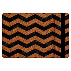 Chevron3 Black Marble & Rusted Metal Ipad Air Flip by trendistuff