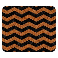 Chevron3 Black Marble & Rusted Metal Double Sided Flano Blanket (small)  by trendistuff