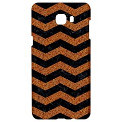 Chevron3 Black Marble & Rusted Metal Samsung C9 Pro Hardshell Case  by trendistuff