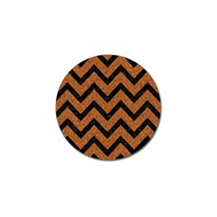 Chevron9 Black Marble & Rusted Metal Golf Ball Marker (10 Pack) by trendistuff