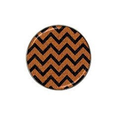 Chevron9 Black Marble & Rusted Metal Hat Clip Ball Marker (4 Pack) by trendistuff