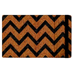 Chevron9 Black Marble & Rusted Metal Apple Ipad 2 Flip Case by trendistuff