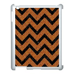 Chevron9 Black Marble & Rusted Metal Apple Ipad 3/4 Case (white) by trendistuff