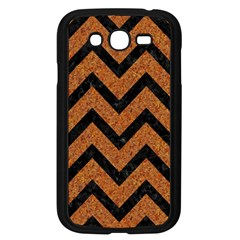 Chevron9 Black Marble & Rusted Metal Samsung Galaxy Grand Duos I9082 Case (black) by trendistuff