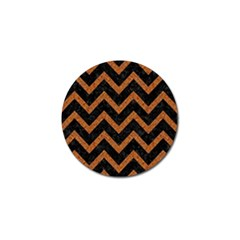 Chevron9 Black Marble & Rusted Metal (r) Golf Ball Marker by trendistuff
