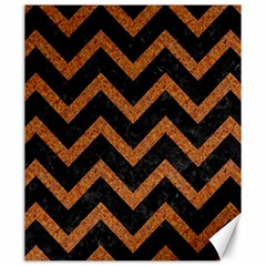 Chevron9 Black Marble & Rusted Metal (r) Canvas 20  X 24   by trendistuff