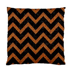 Chevron9 Black Marble & Rusted Metal (r) Standard Cushion Case (two Sides) by trendistuff