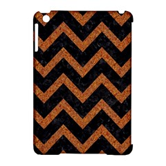 Chevron9 Black Marble & Rusted Metal (r) Apple Ipad Mini Hardshell Case (compatible With Smart Cover) by trendistuff