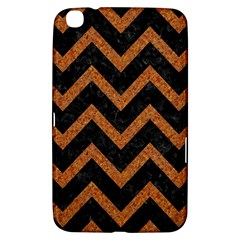 Chevron9 Black Marble & Rusted Metal (r) Samsung Galaxy Tab 3 (8 ) T3100 Hardshell Case  by trendistuff