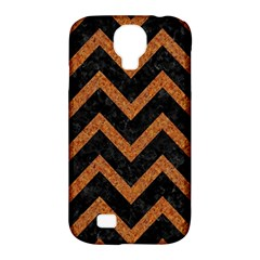 Chevron9 Black Marble & Rusted Metal (r) Samsung Galaxy S4 Classic Hardshell Case (pc+silicone) by trendistuff