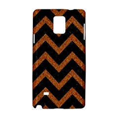 Chevron9 Black Marble & Rusted Metal (r) Samsung Galaxy Note 4 Hardshell Case