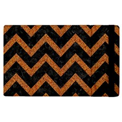 Chevron9 Black Marble & Rusted Metal (r) Apple Ipad Pro 12 9   Flip Case