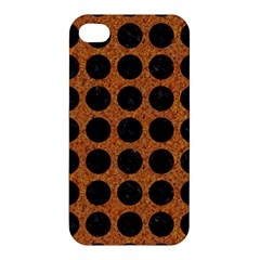 Circles1 Black Marble & Rusted Metal Apple Iphone 4/4s Hardshell Case by trendistuff