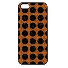 Circles1 Black Marble & Rusted Metal Apple Iphone 5 Seamless Case (black) by trendistuff