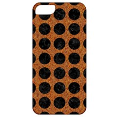 Circles1 Black Marble & Rusted Metal Apple Iphone 5 Classic Hardshell Case by trendistuff