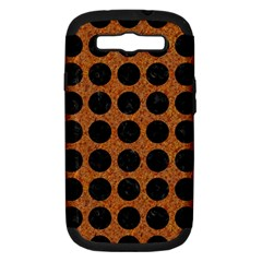 Circles1 Black Marble & Rusted Metal Samsung Galaxy S Iii Hardshell Case (pc+silicone) by trendistuff