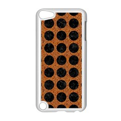 Circles1 Black Marble & Rusted Metal Apple Ipod Touch 5 Case (white) by trendistuff