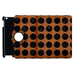 Circles1 Black Marble & Rusted Metal Apple Ipad 2 Flip 360 Case by trendistuff
