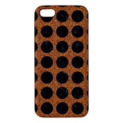 Circles1 Black Marble & Rusted Metal Apple Iphone 5 Premium Hardshell Case by trendistuff