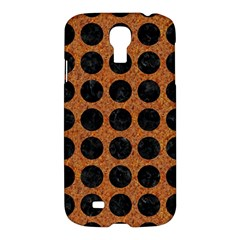 Circles1 Black Marble & Rusted Metal Samsung Galaxy S4 I9500/i9505 Hardshell Case by trendistuff