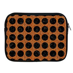 Circles1 Black Marble & Rusted Metal Apple Ipad 2/3/4 Zipper Cases by trendistuff