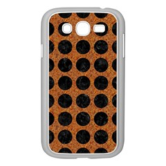 Circles1 Black Marble & Rusted Metal Samsung Galaxy Grand Duos I9082 Case (white) by trendistuff
