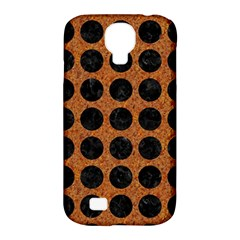 Circles1 Black Marble & Rusted Metal Samsung Galaxy S4 Classic Hardshell Case (pc+silicone) by trendistuff