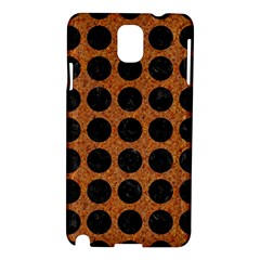 Circles1 Black Marble & Rusted Metal Samsung Galaxy Note 3 N9005 Hardshell Case by trendistuff