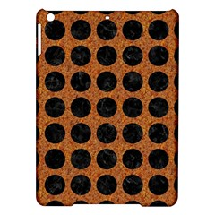 Circles1 Black Marble & Rusted Metal Ipad Air Hardshell Cases by trendistuff