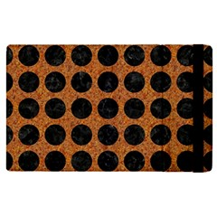 Circles1 Black Marble & Rusted Metal Apple Ipad Pro 9 7   Flip Case by trendistuff