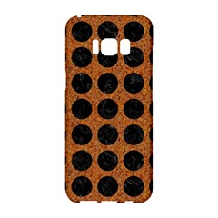 Circles1 Black Marble & Rusted Metal Samsung Galaxy S8 Hardshell Case  by trendistuff