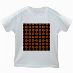 CIRCLES1 BLACK MARBLE & RUSTED METAL (R) Kids White T-Shirts