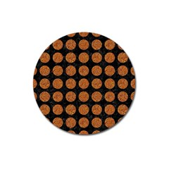 CIRCLES1 BLACK MARBLE & RUSTED METAL (R) Magnet 3  (Round)