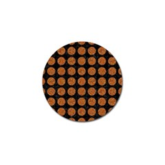 CIRCLES1 BLACK MARBLE & RUSTED METAL (R) Golf Ball Marker (4 pack)