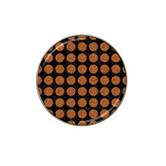CIRCLES1 BLACK MARBLE & RUSTED METAL (R) Hat Clip Ball Marker