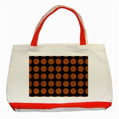 CIRCLES1 BLACK MARBLE & RUSTED METAL (R) Classic Tote Bag (Red)