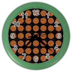 CIRCLES1 BLACK MARBLE & RUSTED METAL (R) Color Wall Clocks