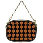 CIRCLES1 BLACK MARBLE & RUSTED METAL (R) Chain Purses (One Side)  Front